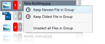 Select which file to keep